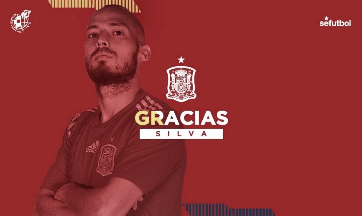 Aos 32 anos, David Silva dá adeus à Seleção Espanhola
