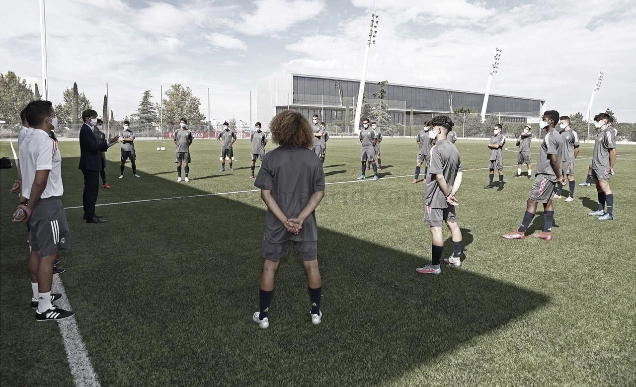 Presentación de la temporada para el Juvenil B de Javier Vázquez | Fuente: www.realmadrid.com
