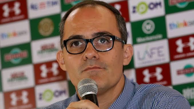 Entrevista coletiva com presidente do Fluminense Pedro Abad