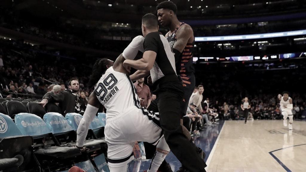 Knicks and Grizzlies get into it at MSG