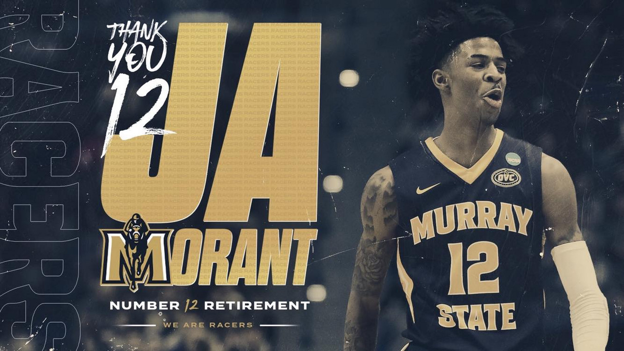 Ja Morant's No. 12 retired at Murray State