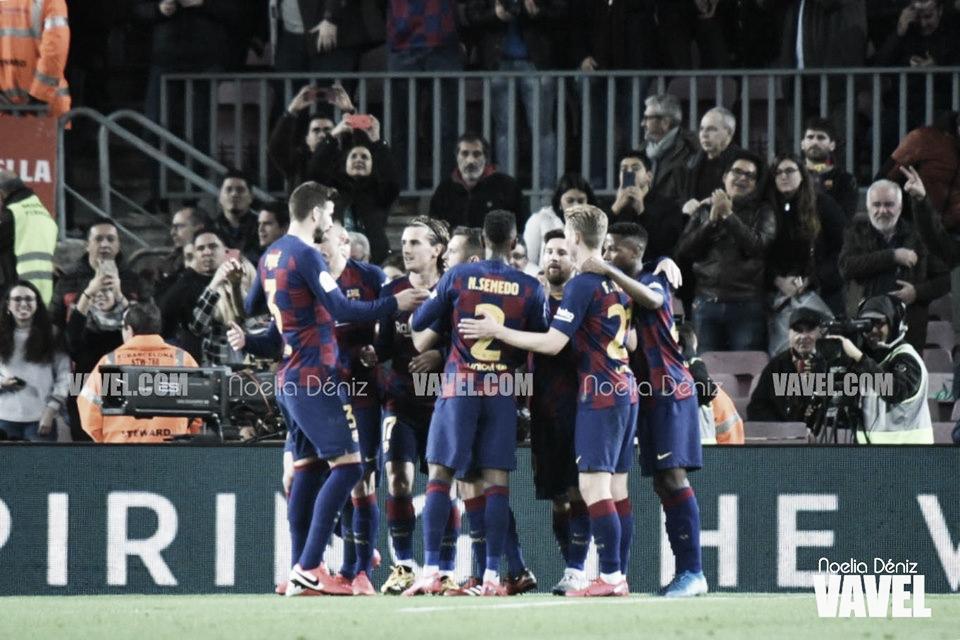 Un contundente FC Barcelona impone su ley copera ante el CD Leganés