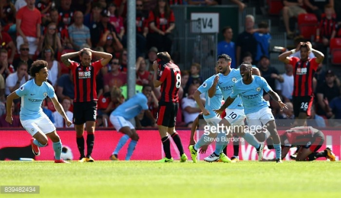 Bournemouth 1-2 Manchester City: City leave it late to clinch three points