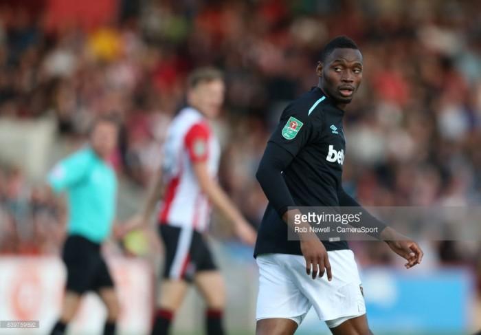 Diafra Sakho returns to West Ham training ground