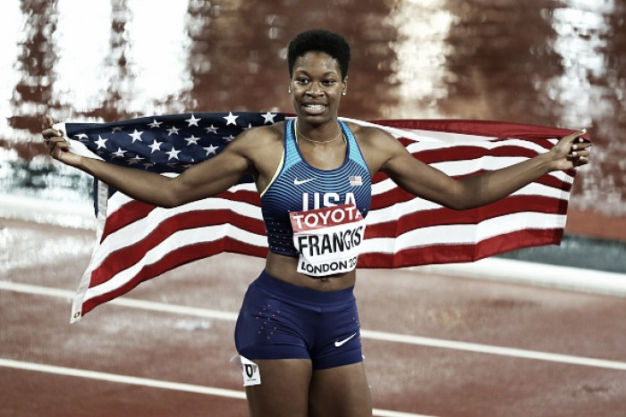 World Athletics Championships: Phyllis Francis upsets the field to take gold in the 400m