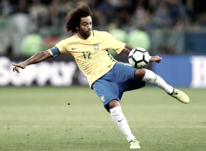 """Marcelo promete Seleção 'de volta ao posto mais alto' em 2018 e afirma: """"Eu mataria pelo Tite"""""""