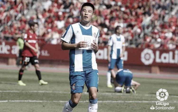 Wu Lei ante el Mallorca en la temporada 19/20| Fuente: LaLiga