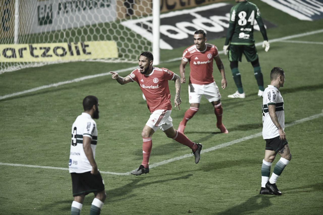 """Inter estreia com vitória no Brasileirão e agrada Eduardo Coudet: """"Equipe toda fez um bom trabalho"""""""