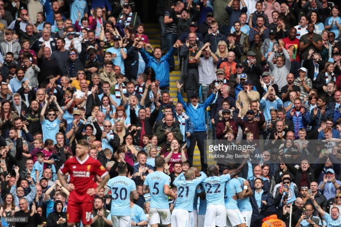 Manchester City 5-0 Liverpool: City go top as they crush ten-man Reds in stellar showing