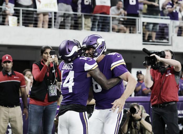 Sam Bradford garante vitória dos Vikings sobre Saints no retorno de Adrian Peterson a Minnesota