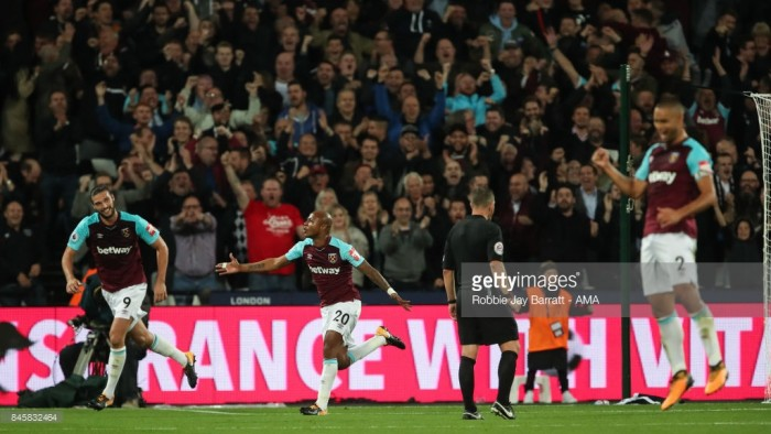 West Ham 2-0 Huddersfield Town: Hammers record first win of the campaign