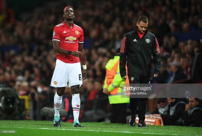 Manchester United suffer blow as Paul Pogba set to miss up to six games with hamstring injury