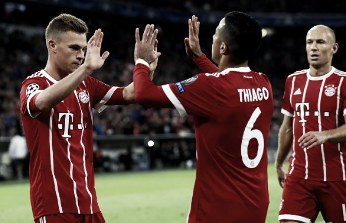 Bayern de Munique faz dever de casa e passa fácil pelo Anderlecht