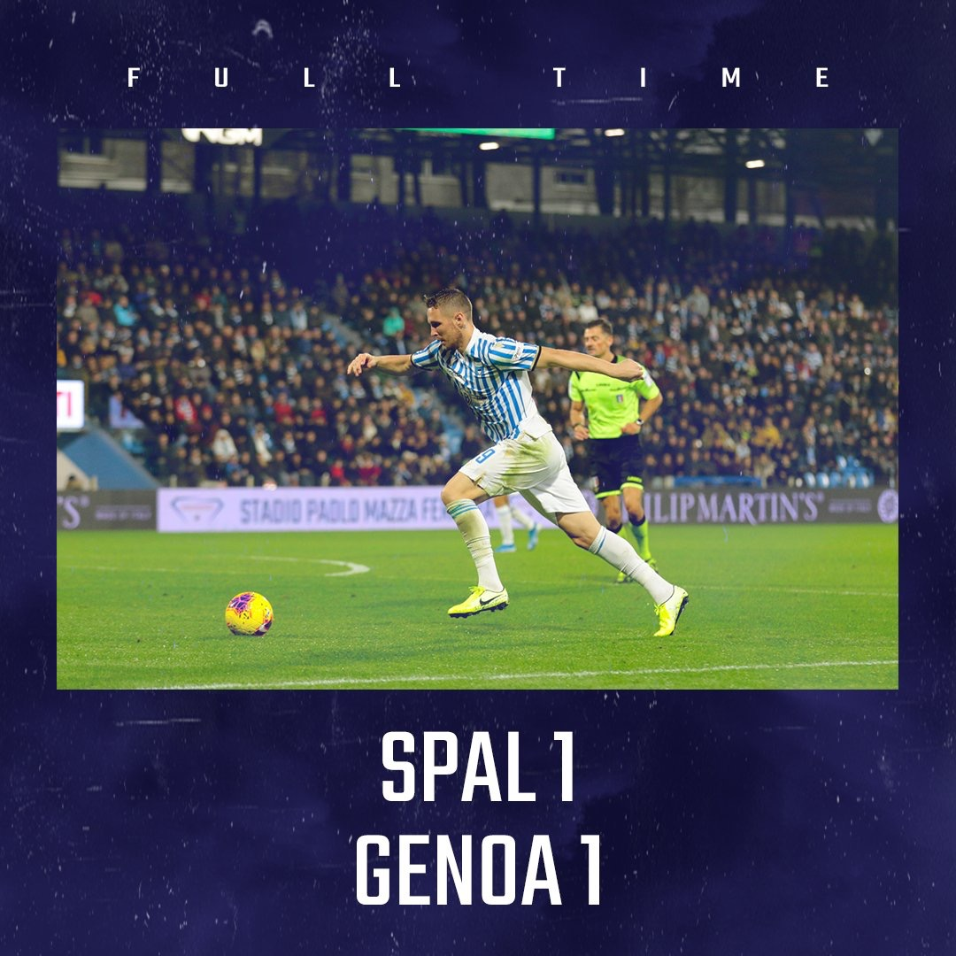 Serie A- Tra Spal e Genoa accade tutto nel secondo tempo, Sturaro risponde a Petagna