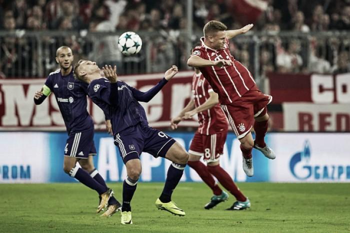 Resultado Anderlecht x Bayern de Munique na Uefa Champions League (1-2)