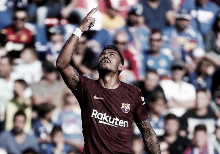 Barcelona vence Getafe de virada com gol de Paulinho e permanece líder invicto