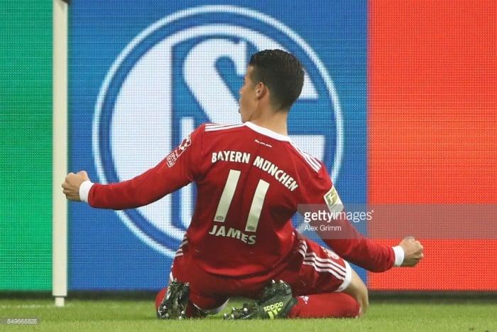 Schalke 04 0-3 Bayern Munich:James Rodríguez stars as champions cruise in Gelsenkirchen