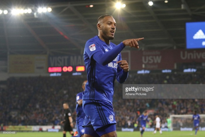 Cardiff City 3-1 Leeds United: Brilliant Zohore leads Bluebirds to top of Championship table