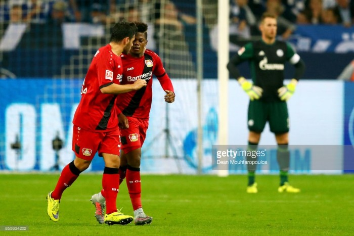Schalke 04 1-1 Bayer Leverkusen: Leon Bailey earns Werkself first point on the road