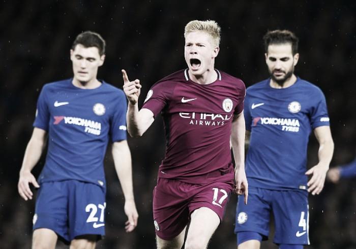 City vence em Londres, quebra sequência do Chelsea e mantém liderança da Premier League