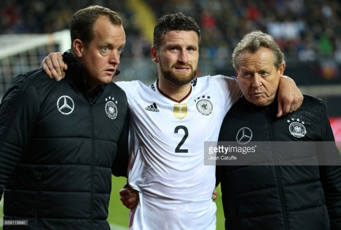 Mustafi 'out for a while' after international injury