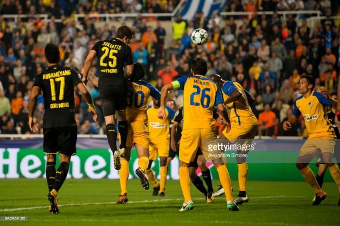 APOEL 1-1 Borussia Dortmund: Sokratis spares Schwarzgelben from damaging defeat