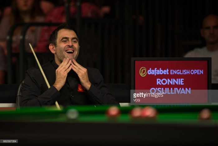Ronnie O'Sullivan storms through English Open second round after resolving footwear argument with World Snooker