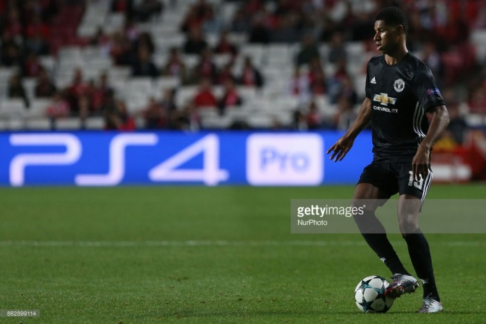 José Mourinho remains unsure on Marcus Rashford's fitness after limping off in Benfica victory