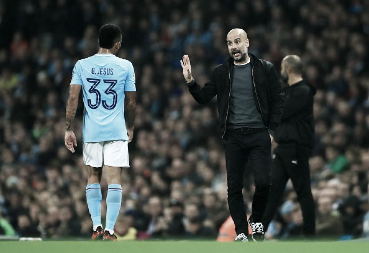 """Após classificação, Guardiola fica feliz por gol de Gabriel Jesus: """"Importante para sua confiança"""""""