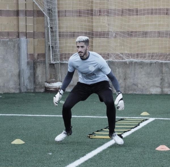 Jesús Godino entrenando en el estadio Santo Domingo //vía : Marbella