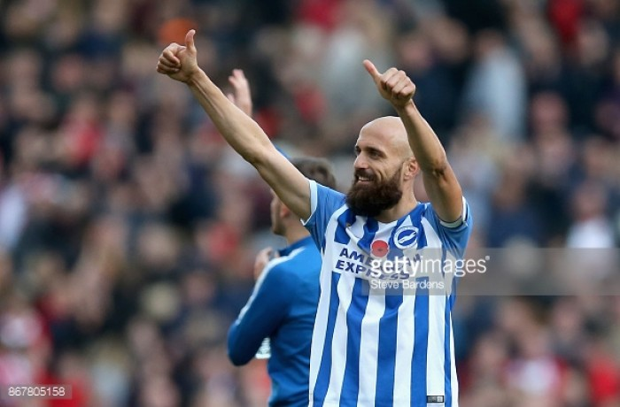 "Glenn Murray hails ""professionalism"" of Brighton captain Bruno"