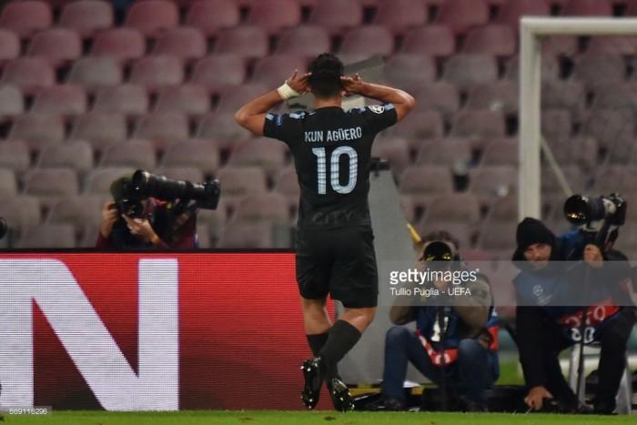 Napoli 2-4 Manchester City: Agüero's record-breaking strike sends City in the Champions League last-16
