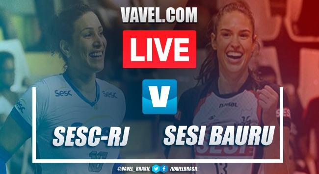 Resultado Sesc-RJ x Sesi Bauru pela semifinal da Copa Brasil de Vôlei Feminino (3-0)