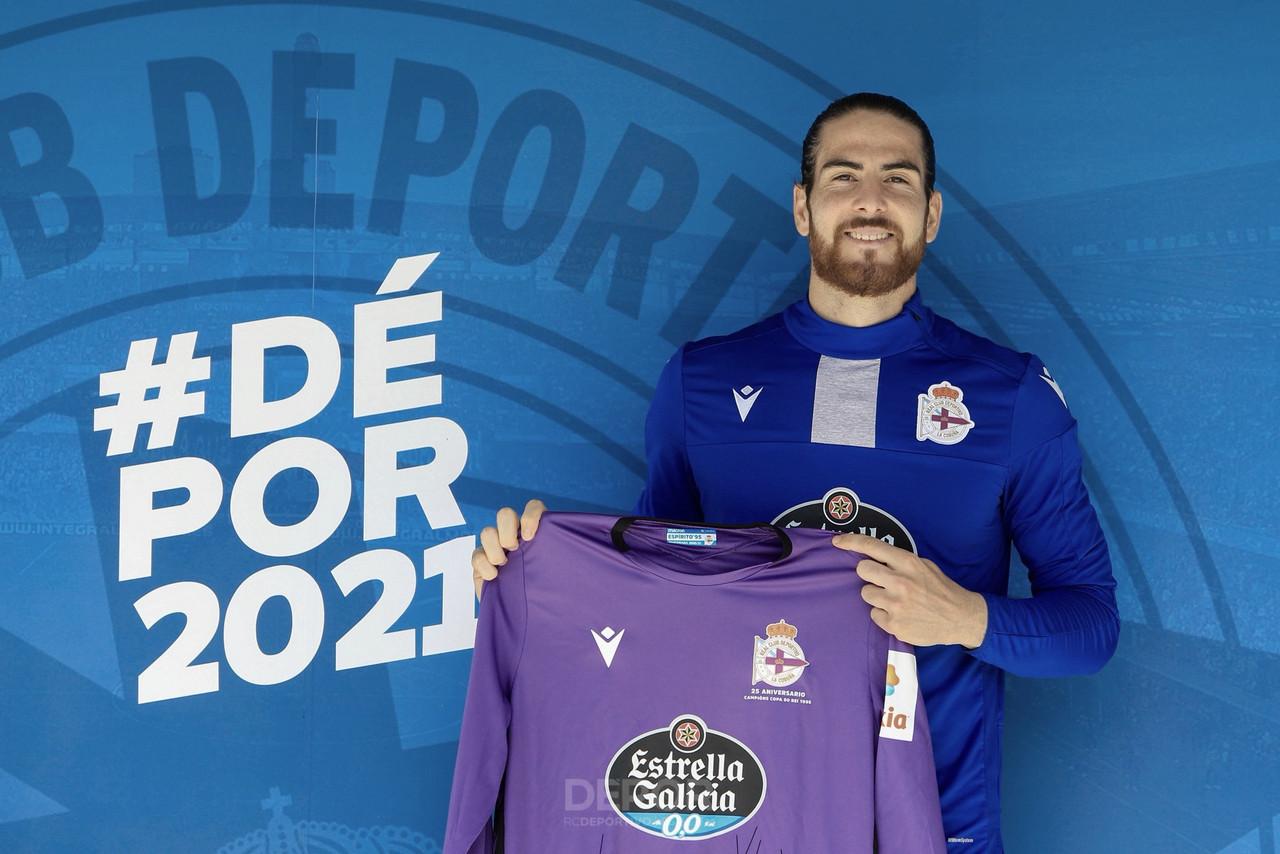 Carlos Abad, canterano blanco, refuerza la meta del RC Deportivo