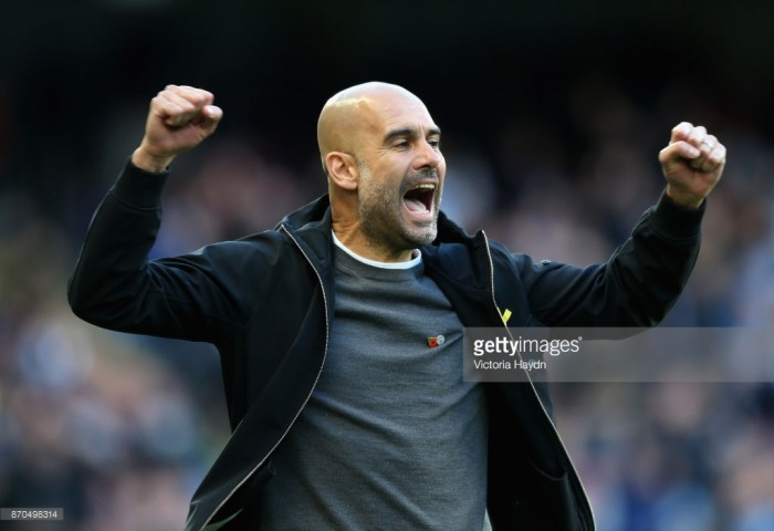 "Pep Guardiola says Manchester City ""deserved"" Arsenal victory despite Arsène Wenger's referee criticisms"