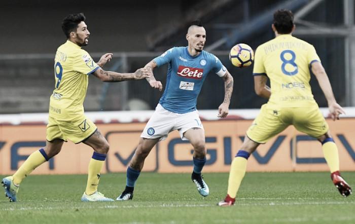 Em Verona, Chievo freia Napoli e empata sem gols pela Serie A