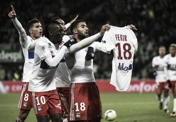 Lyon atropela Saint-Étienne, Fekir 'imita' Messi e inflama torcida rival