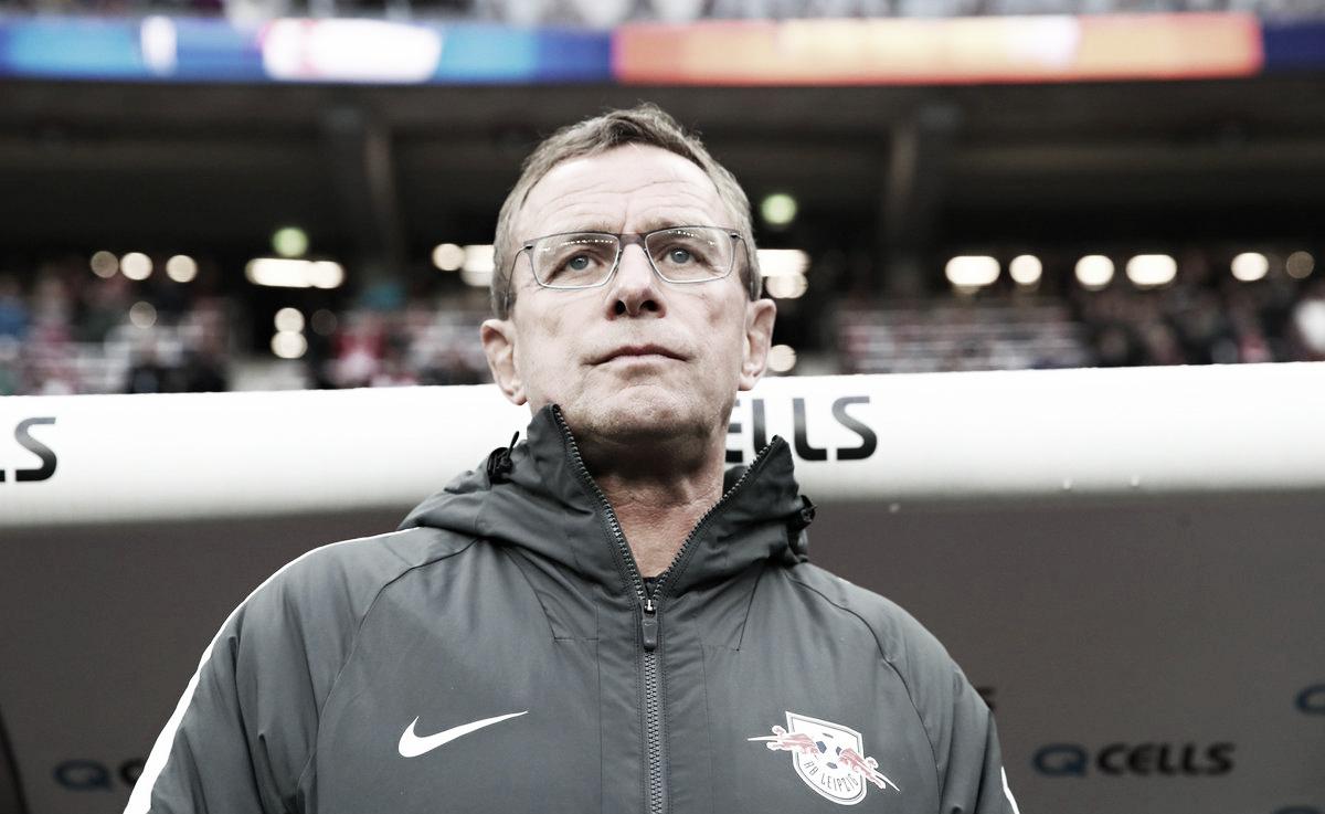 """Ralf Rangnick lamenta empate do Leipzig em casa: """"Tivemos azar"""""""
