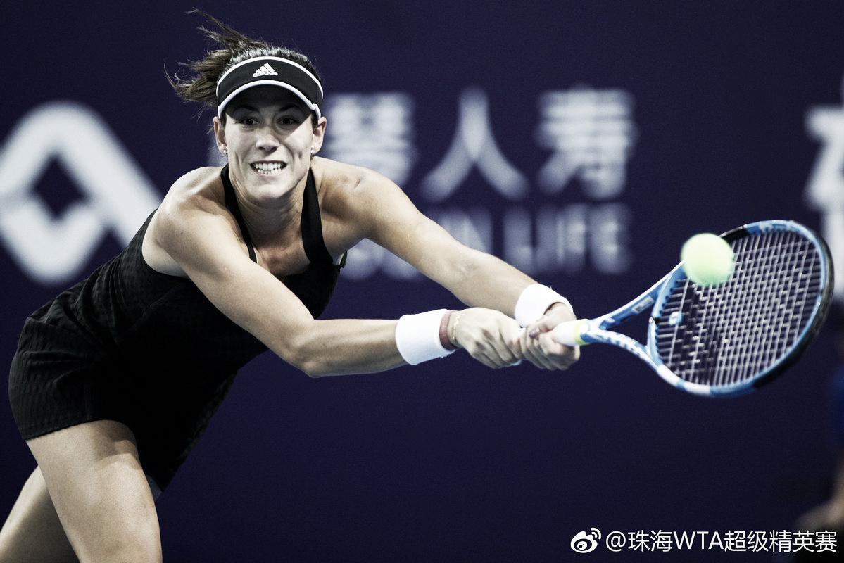 Muguruza vira jogo contra Zhang e estreia com vitória em Zhuhai