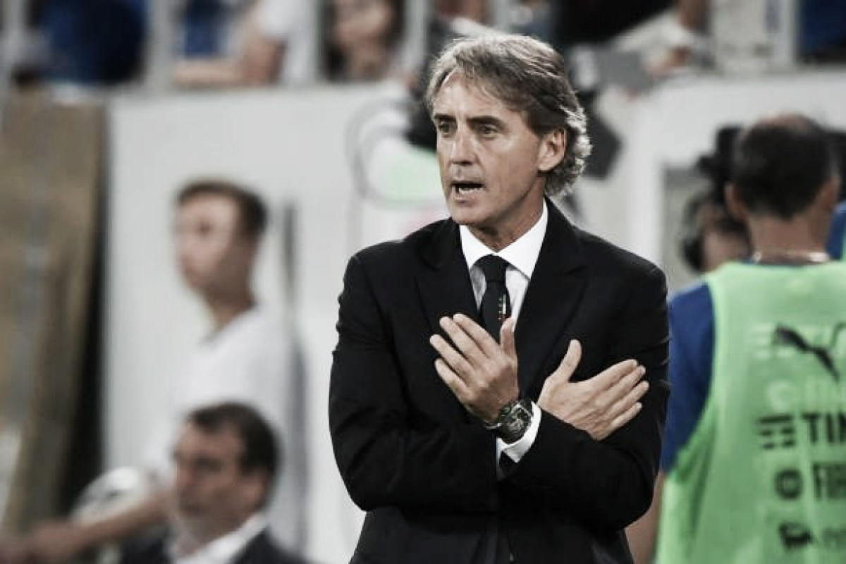 Após estreia, Mancini elogia primeiro tempo da Itália e destaca cansaço na reta final
