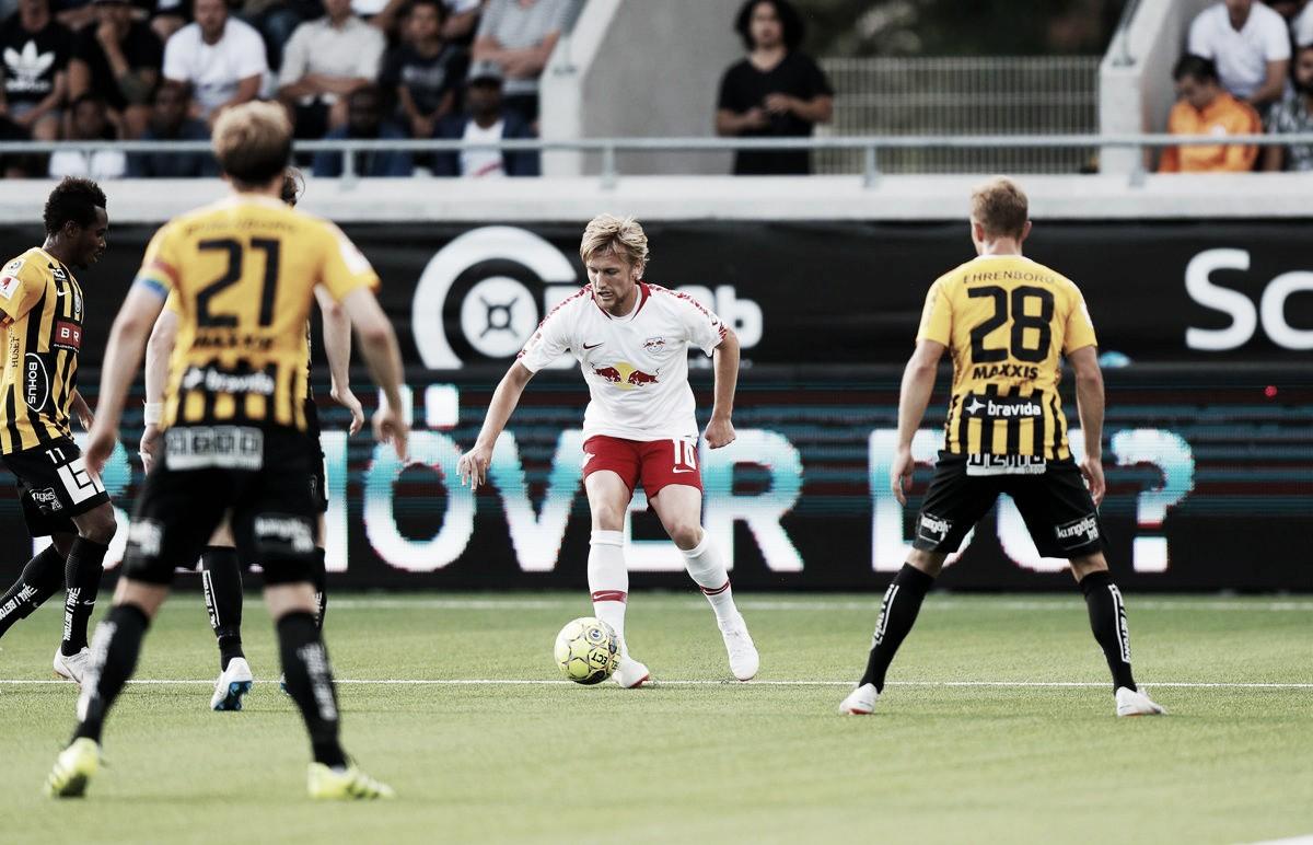Em jogo pouco movimentado, RB Leipzig empata com BK Häcken e se classifica na Europa League
