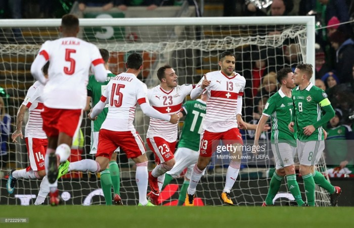 Northern Ireland 0-1 Switzerland: Rodriguez's controversial penalty hands the Swiss a crucial advantage