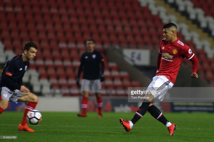 Marcos Rojo returns to the field for Manchester United under-23s