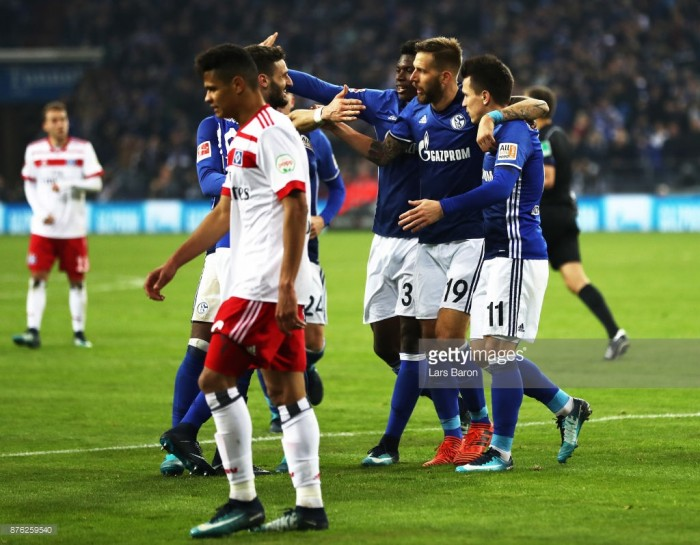 FC Schalke 04 2-0 Hamburger SV: Di Santo and Burgstaller goals move Royal Blues up to second in the Bundesliga
