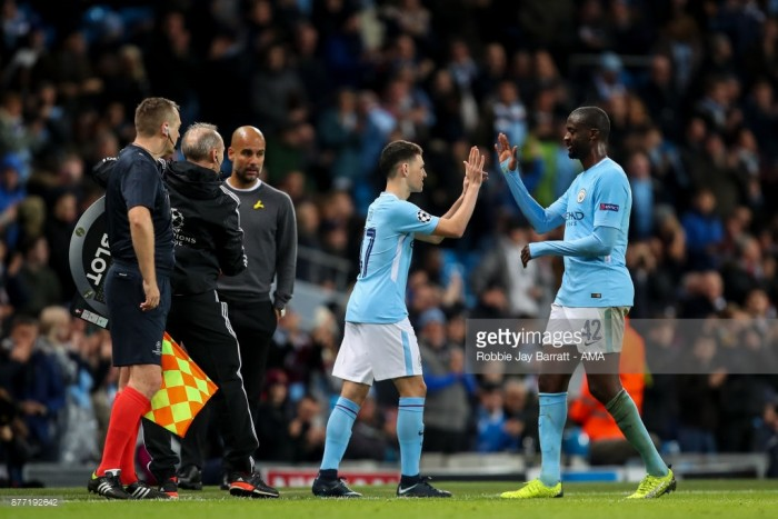 Yaya Touré talks up Phil Foden after Feyenoord cameo