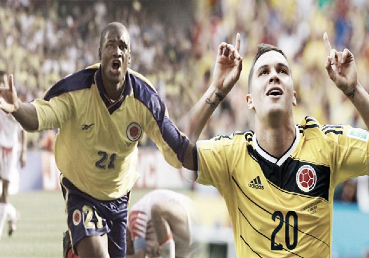 Juan Fernando Quintero y Léider Preciado, los más jóvenes en anotar para Colombia en un Mundial