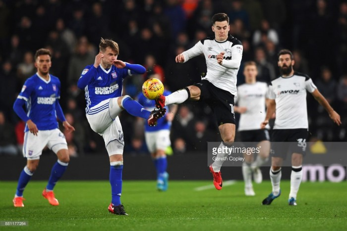Derby County 0-1 Ipswich Town: Callum Connolly header earns Tractor Boys victory at Pride Park