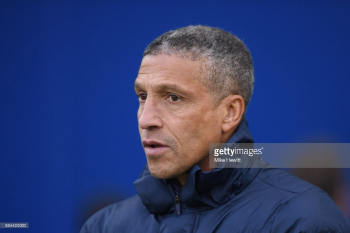 Chris Hughton hopes to see improvement at Huddersfield over last game