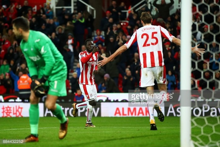 Stoke City 2-1 Swansea City: Potters come from behind to win as Swans sink to foot of the table