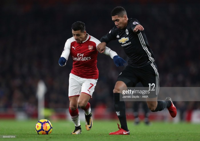 Chris Smalling believes that tactical tweak in two-pronged attack was key in Arsenal victory